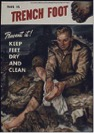 Description: WW1 Poster about preventing Trench Foot