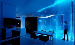 Синий и голубой цвет придает человеку бодрости и повышает его производительность